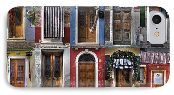 doors and windows of Burano - Venice IPhone Case by Joana Kruse