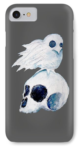 Dove And Skull IPhone Case by Daniel P Cronin