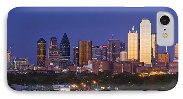 Downtown Dallas Skyline At Dusk IPhone Case