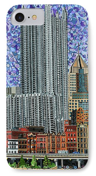 Downtown Pittsburgh - View From Smithfield Street Bridge Phone Case by Micah Mullen