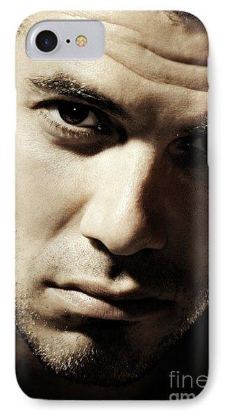 Dramatic Male Portrait Phone Case by Oleksiy Maksymenko