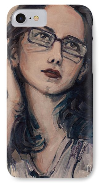 IPhone Case featuring the painting Dreaming With Open Eyes by Olimpia - Hinamatsuri Barbu