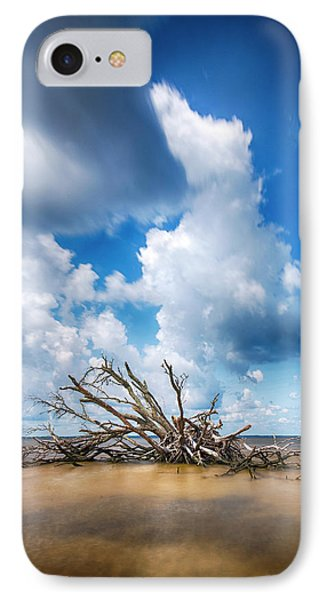 IPhone Case featuring the photograph Driftwood Sky by Alan Raasch