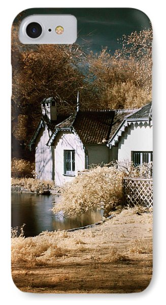 Duck Island Cottage IPhone Case by Helga Novelli