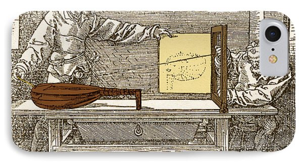 Durers Perspective Drawing Of A Lute Phone Case by Science Source