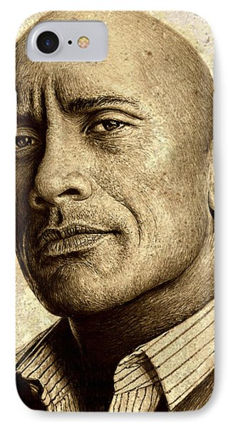 Dwayne The Rock Johnson IPhone Case by Andrew Read