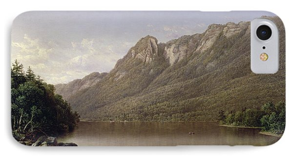 Eagle Cliff At Franconia Notch In New Hampshire IPhone Case by David Johnson