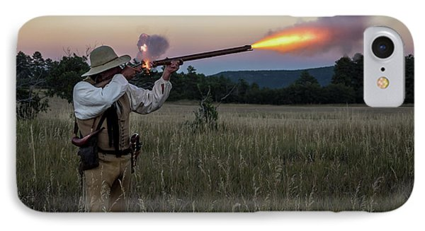 Early 1800's Flintlock Muzzleloader Blast IPhone Case