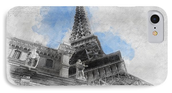 Eiffel Tower Of Paris IPhone Case by Asar Studios