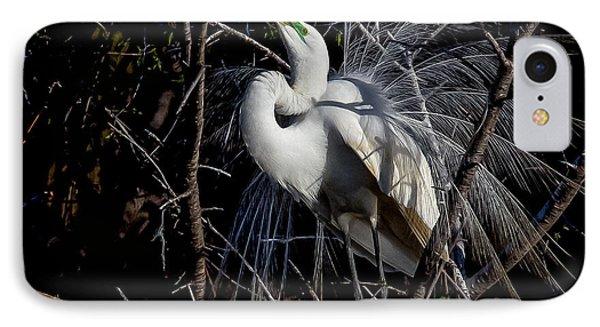 Elegant Egret IPhone Case by Kelly Marquardt