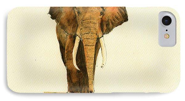 Elephant Watercolor IPhone 7 Case by Juan  Bosco