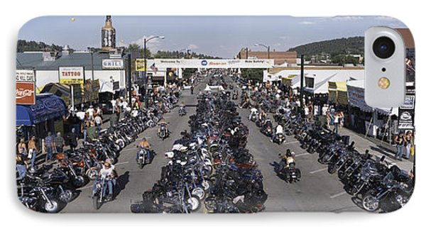 Elevated Panoramic View Of Main Street IPhone Case by Panoramic Images