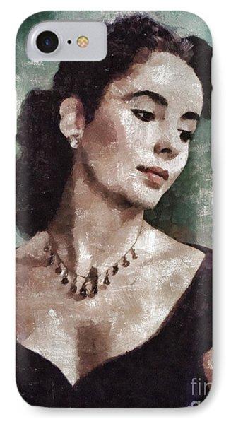 Elizabeth Taylor iPhone 7 Case - Elizabeth Taylor By Mary Bassett by Mary Bassett