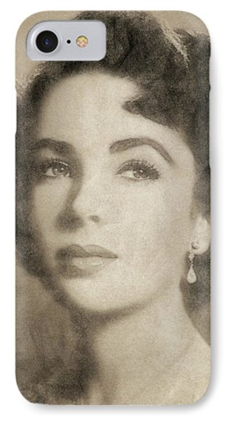 Elizabeth Taylor Hollywood Actress IPhone 7 Case by John Springfield