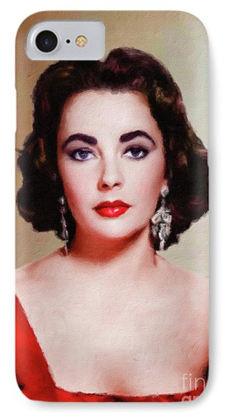 Elizabeth Taylor Hollywood Actress IPhone Case by Mary Bassett