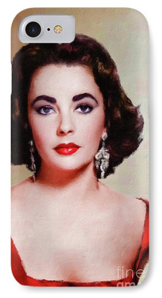 Elizabeth Taylor Hollywood Actress IPhone 7 Case by Mary Bassett
