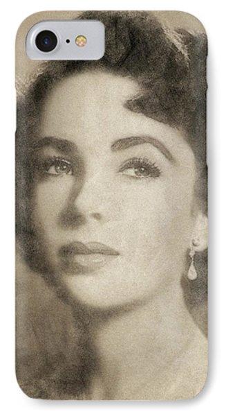 Elizabeth Taylor, Vintage Hollywood Legend By John Springfield IPhone 7 Case by John Springfield