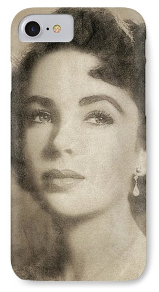 Elizabeth Taylor, Vintage Hollywood Legend By John Springfield IPhone Case by John Springfield
