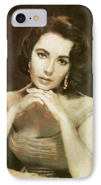 Elizabeth Taylor, Vintage Hollywood Legend By Mary Bassett IPhone 7 Case