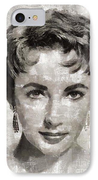 Elizabeth Taylor, Vintage Hollywood Legend IPhone 7 Case