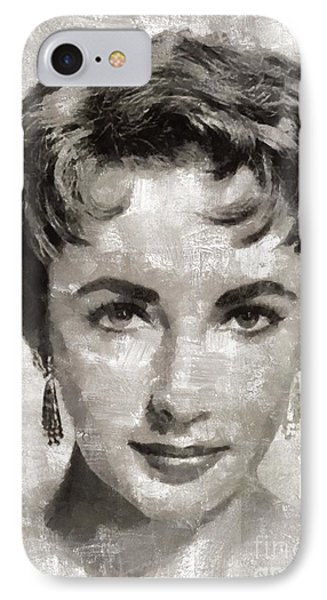 Elizabeth Taylor, Vintage Hollywood Legend IPhone Case by Mary Bassett