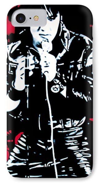 Elvis IPhone 7 Case by Luis Ludzska