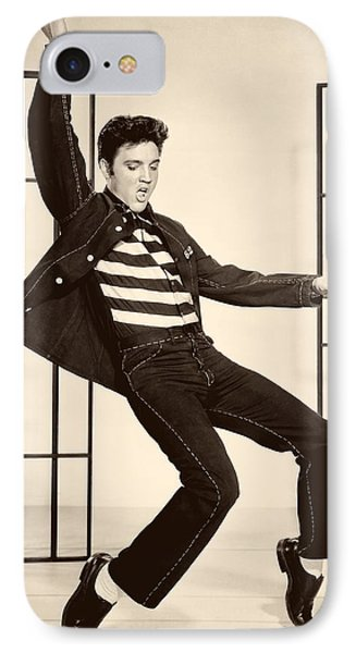 Elvis Presley In Jailhouse Rock 1957 IPhone Case by Mountain Dreams
