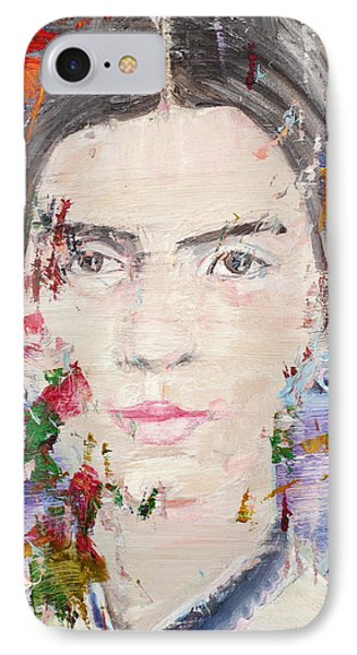 IPhone Case featuring the painting Emily Dickinson - Oil Portrait by Fabrizio Cassetta