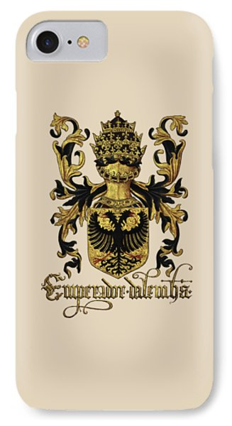 Emperor Of Germany Coat Of Arms - Livro Do Armeiro-mor Phone Case by Serge Averbukh