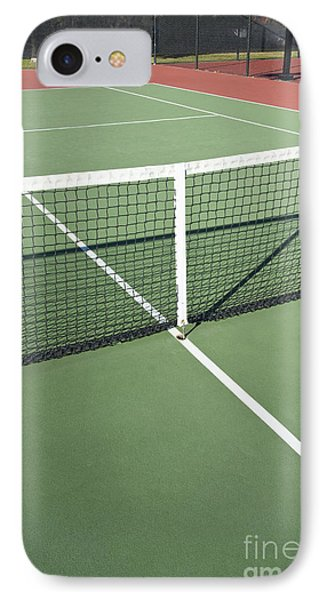 Empty Tennis Court Phone Case by Thom Gourley/Flatbread Images, LLC