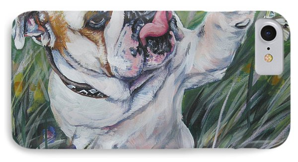 Cabbage iPhone 7 Case - English Bulldog by Lee Ann Shepard