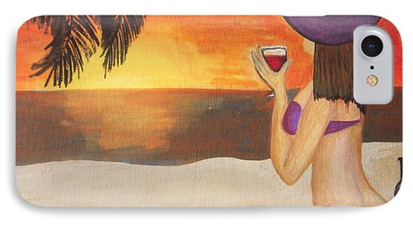 Enjoy The Beach IPhone Case by Vesna Antic