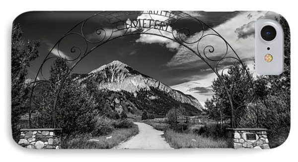Entrance To Crested Butte IPhone Case by Mountain Dreams
