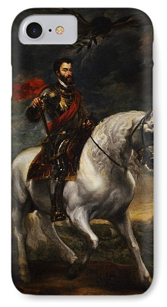 Equestrian Portrait Of The Emperor Charles V IPhone Case by Anthony van Dyck