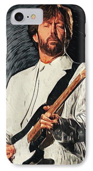 Eric Clapton IPhone Case by Taylan Apukovska