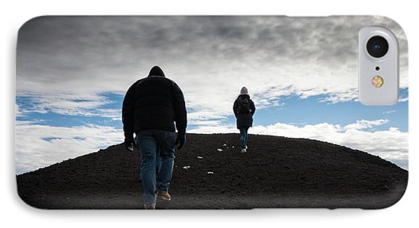 IPhone Case featuring the photograph Etna, Red Mount Crater by Bruno Spagnolo