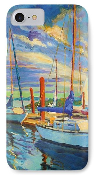 Evening At The Marina Phone Case by Margaret  Plumb