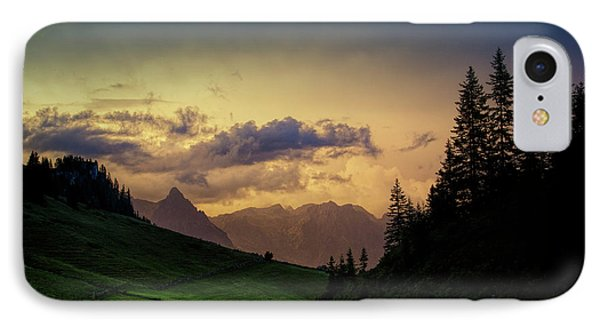 Evening In The Alps IPhone Case