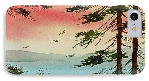 IPhone Case featuring the painting Evening Light by James Williamson