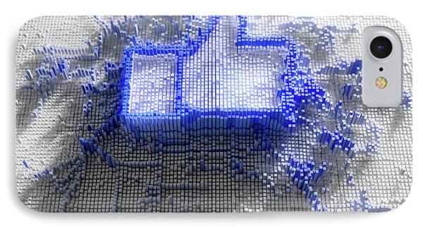 Facebook Like Logo In Pixels IPhone Case by Allan Swart