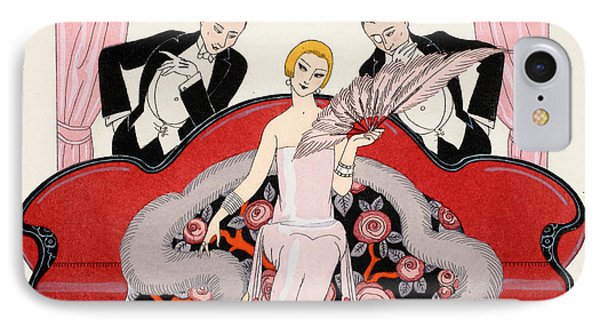 Falbalas Et Fanfreluches IPhone Case by Georges Barbier