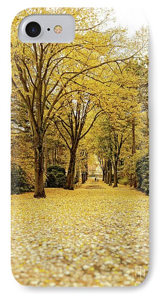 IPhone Case featuring the photograph Carpet Of Golden Leaves by Ivy Ho