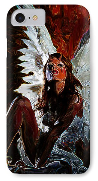 Fallen Angel IPhone Case by Tbone Oliver