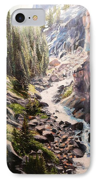 Falls Below Rimrock Lake IPhone Case by Patti Gordon