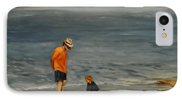 Family On Beach IPhone Case by Lindsay Frost