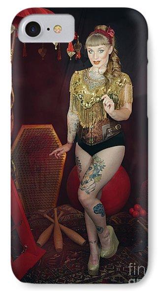 Female Circus Performer IPhone Case by Amanda Elwell