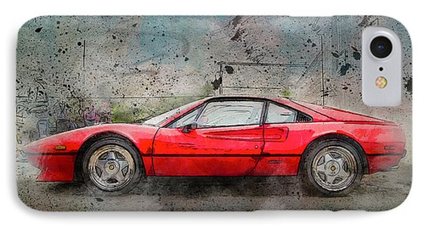 IPhone Case featuring the photograph Ferrari 308 by Joel Witmeyer
