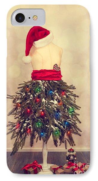 Festive Christmas Mannequin IPhone Case by Amanda Elwell