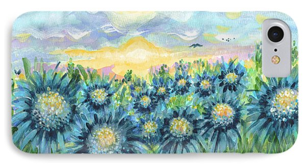Field Of Blue Flowers Phone Case by Holly Carmichael