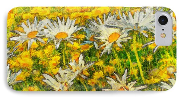 Field Of Daisies IPhone 7 Case by Claire Bull